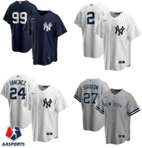 Camisa New York Yankees - 2 Derek Jeter - 3 Babe Ruth - 27 Giancarlo Stanton - 99 Aaron Judge
