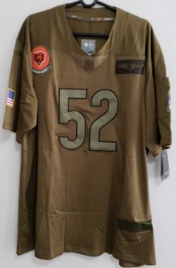 Camisa Chicago Bears - 52 Khalil Mack - Salute to Service 2020
