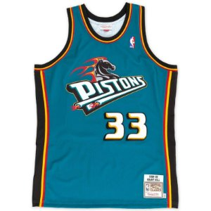 Camisas Retrô Detroit Pistons - 33 Grant Hill - Mitchell and Ness