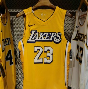 Camisa Los Angeles Lakers Jersey city-Edition Authentic #23 LeBron James