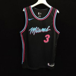 Camisa - Miami Heat - City Edition 2018 - Authentic Jersey - 3 Dwyane Wade