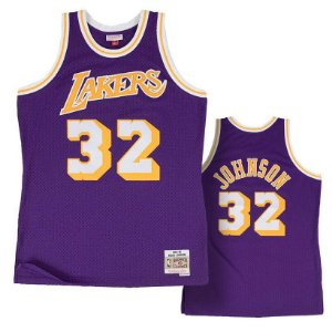 Camisa Los Angeles - 32 Magic Johnson - Mitchell & Ness