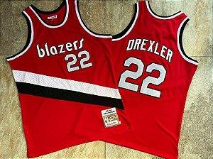 Camisa Portland Trail Blazers - 22 Clyde Drexler - Mitchell & Ness