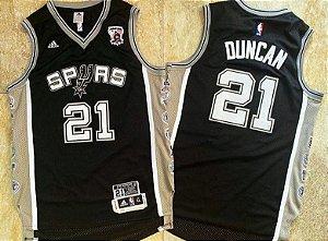 Camisa San Antonio Spurs 21 Tim Duncan - Edição especial