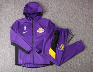 Agasalho casaco com Capuz NBA Los angeles lakers Showtime Therma Flex
