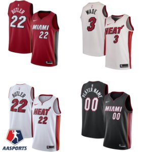Camisa Miami Heat- 3 Dwyane Wade - 22 Jimmy Butler - 14 Tyler Herro - escolha qualquer jogador do time