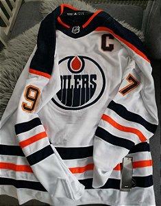 Camisa Edmonton Oilers - 97 Connor McDavid - 99 Wayne Gretzky