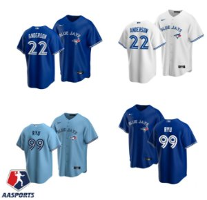 Camisa Toronto Blue Jays -  10 Reese McGuire - 99 Hyun-Jin Ryu - 22 Chase Anderson