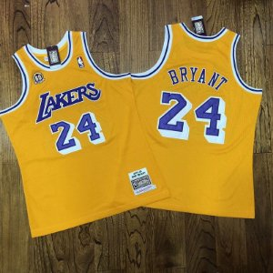 Camisa Los Angeles Lakers - #24 kobe Bryant - mitchell and ness   - 60 anos  - 07/08