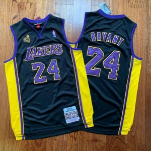 Camisa Los Angeles Lakers - #24 kobe Bryant - mitchell and ness  - patch de campeão  09 / 10