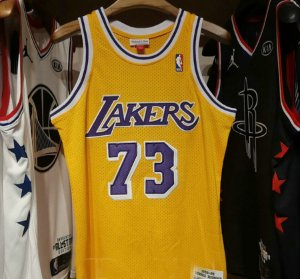 Camisa Los Angeles Lakers - 73 Dennis Rodman - Mitchell & Ness