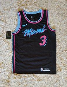 Camisa Miami Heat - 3 Dwyane Wade - Pronta Entrega