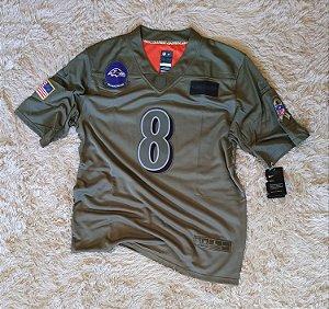 Camisa Baltimore Ravens - 8 Lamar Jackson - Pronta Entrega