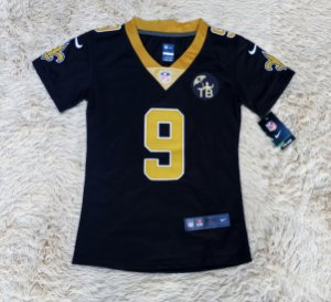 Camisa New Orleans Saints - 9 Drew Brees - FEMININA - Pronta Entrega