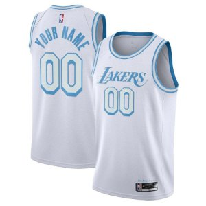 Camisa Los Angeles Lakers - 23 LeBron James - 3 Anthony Davis - Montrezl Harrell - Dennis Schroder  City Edition - escolha qualquer jogador do time