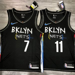 Camisa Brooklyn Nets - City Edition - 7 Kevin Durant - 11 Kyrie Irving - 13 James Harden - escolha qualquer jogador do time