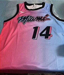 Camisa Miami Heat - City Edition - 22 Jimmy Butler - 14 Tyler Herro - escolha qualquer jogador do time