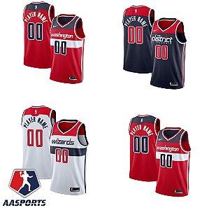 Camisa Washington Wizards - 4 Russell Westbrook - 3 Bradley Beal - 8 Rui Hachimura - escolha qualquer jogador do time
