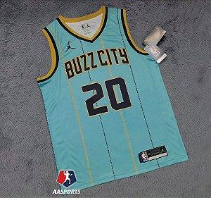 Camisa Charlotte Hornets - city Edition - 0 Miles Bridges - 2 LaMelo Ball - escolha qualquer jogador do time