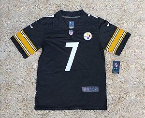 Camisa Pittsburgh Steelers - 7 Ben Roethlisberger - Pronta Entrega