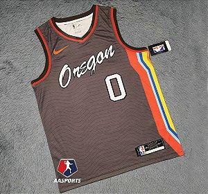 Camisa Portland Trail Blazers - City Edition -  0 Damian Lillard - 00 Carmelo Anthony - escolha qualquer jogador do time