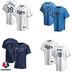 Camisa Tampa Bay Rays - 39 Kevin Kiermaier - 18 Joey Wendle - 56 Randy Arozarena