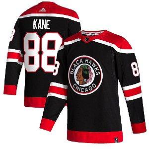 Camisa Chicago Blackhawks - 2020/21 - 88 Patrick Kane - 19 Jonathan Toews - 2 Duncan Keith - 7 Brent Seabrook