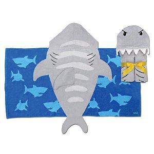 Toalha de Banho Com Capuz Infantil Tubarão - Stephen Joseph
