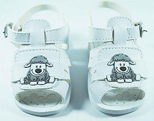 Sandália Bê e Bi Baby Ovelhinha Branco - 1246 01