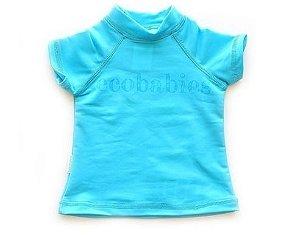 Camisa manga curta com FPU 50+ Azul - Ecobabies