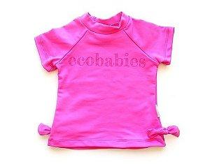Camisa manga curta com FPU 50+ Pink - Ecobabies