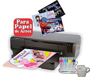 Impressora HP 7110 papel de arroz