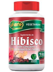 HIBISCO COM GENGIBRE 90 COMPRIMIDOS UNILIFE