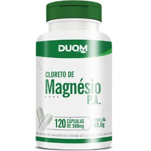 CLORETO DE MAGNÉSIO PA 120 CÁPSULAS 500MG DUOM