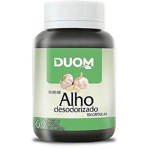 ÓLEO DE ALHO DESODORIZADO 60 CÁPSULAS 500 MG DUOM