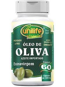 ÓLEO DE OLIVEIRA 1200 MG  60 CÁPSULAS UNILIFE