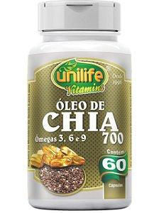 ÓLEO DE CHIA SEMENTE 700MG 60 CÁPSULAS UNILIFE
