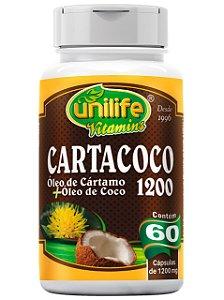 CARTACOCO ÓLEO DE CÁRTAMO + ÓLEO DE COCO 1200 MG 60 CÁPSULAS UNILIFE