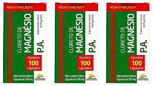 Kit Cloreto de Magnésio PA 300 Cápsulas 500mg Medinal