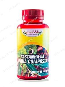 CASTANHA DA ÍNDIA COMPOSTA 500MG 100 CÁPSULAS VERDES VIDA