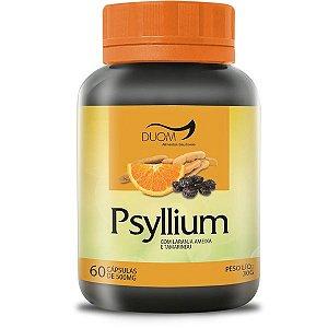 PSYLLIUM(LARANJA+AMEIXA+TAMARINDO) 60 CÁPSULAS 500MG DUOM