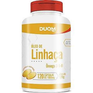 OLEO DE LINHACA 120 CÁPSULAS DUOM 1000MG