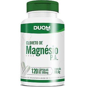 CLORETO DE MAGNÉSIO PA 120 CÁPSULAS  500mg - DUOM