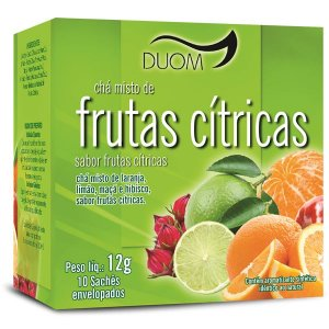 CHA MISTO FRUTAS CITRICAS 10 SACHES DUOM