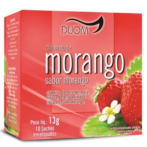 CHA MISTO DE MORANGO 12G 10 SACHES DUOM