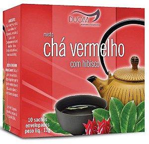 CHÁ MISTO- VERMELHO COM HIBISCO 10 SACHES DUON