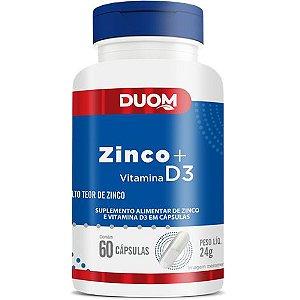 ZINCO+D3 60 CÁPSULAS DUOM