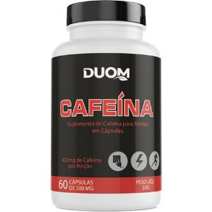 CAFEÍNA DUOM 60 CÁPSULAS 500MG