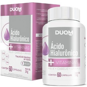 ÁCIDO HIALURÔNICO+VITAMINAS DUOM 60 CÁPSULAS