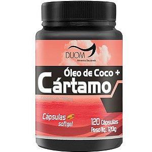 ÓLEO DE COCO + CÁRTAMO 1000MG 120 CÁPSULAS DUOM